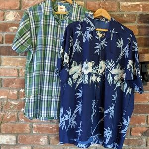 Bundle of Two Men's Casual Button Up Shirts XL